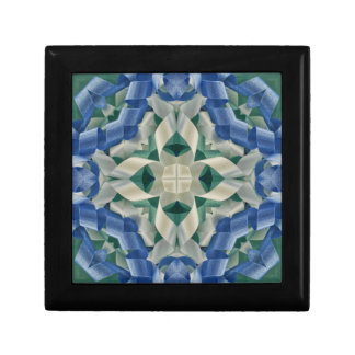 Kaleidoscope of Ribbons in Blue and White Gift Box