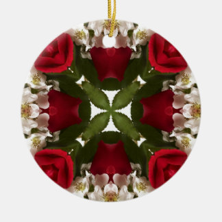 Kaleidoscope of Roses Ceramic Ornament