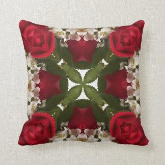 Kaleidoscope of Roses Throw Pillow