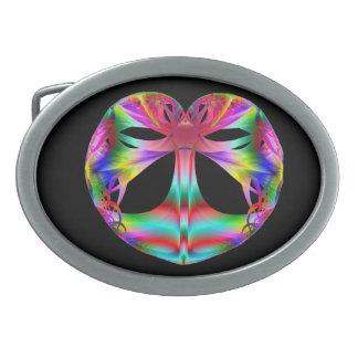 Kaleidoscope of the Heart oval belt buckle