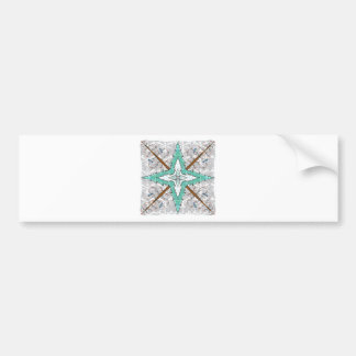 Kaleidoscope of winter trees bumper sticker