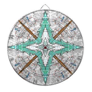 Kaleidoscope of winter trees dart board