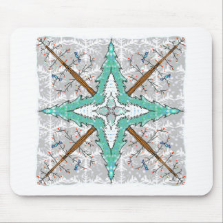 Kaleidoscope of winter trees mouse pad