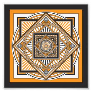 Kaleidoscope ORANGE Art Photo