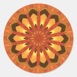 Kaleidoscope orange sticker