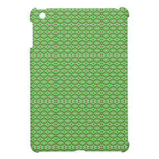 Kaleidoscope Pattern Brown Green and White Case For The iPad Mini
