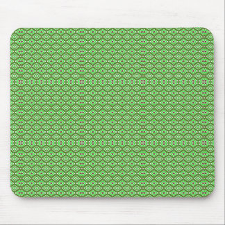 Kaleidoscope Pattern Brown Green and White Mouse Pad
