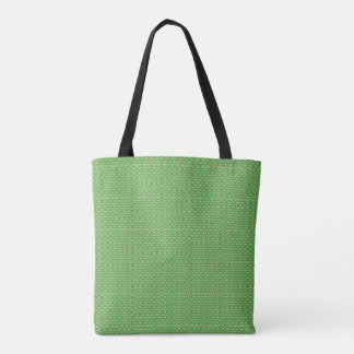Kaleidoscope Pattern Brown Green and White Tote Bag