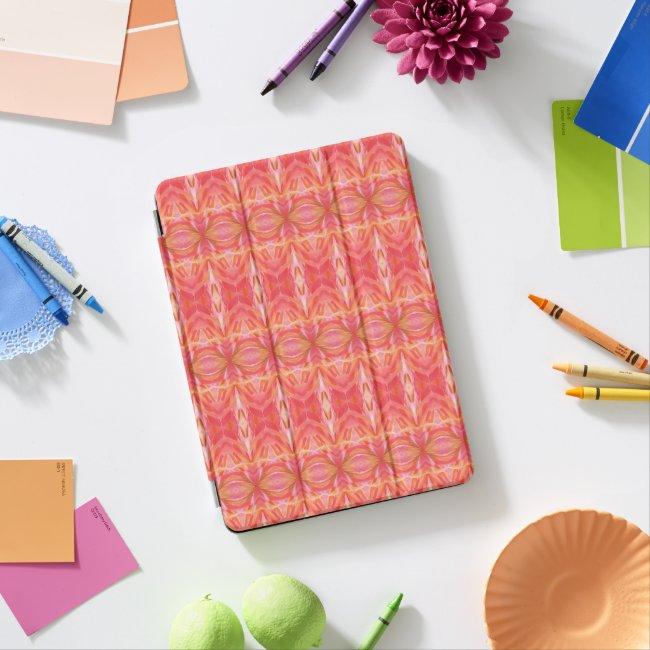 Kaleidoscope Pattern Hot pink & Orange iPad Cover