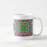 Kaleidoscope pattern neon graphic 1 coffee mug