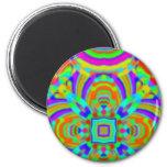 Kaleidoscope pattern neon graphic 1 magnets