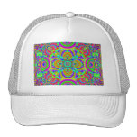 Kaleidoscope pattern neon graphic 1 mesh hats