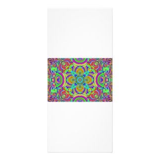Kaleidoscope pattern neon graphic 1 personalized rack card