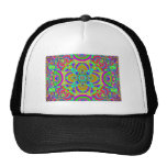 Kaleidoscope pattern neon graphic 1 trucker hats