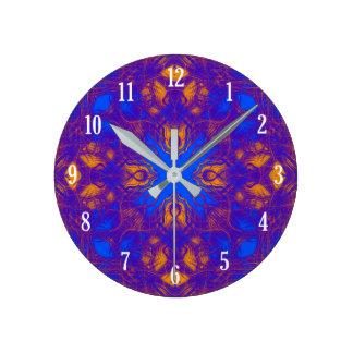 Kaleidoscope pattern round clock