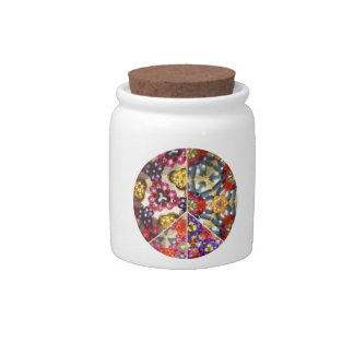 Kaleidoscope Peace Sign Candy Jar