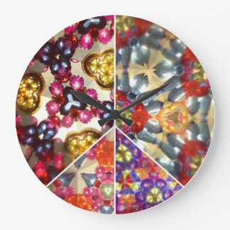 Kaleidoscope Peace Sign Clock