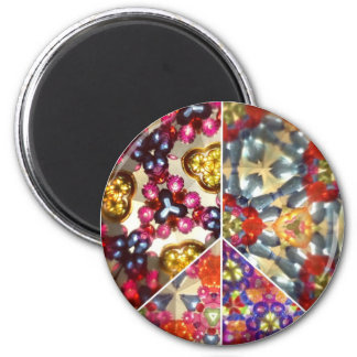 Kaleidoscope Peace Sign Magnet