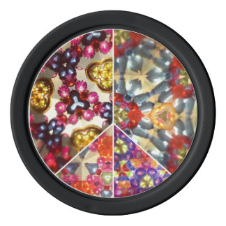 Kaleidoscope Peace Sign Poker Chips