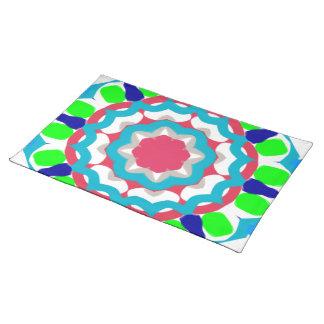 Kaleidoscope Place Mat. Cloth Placemat