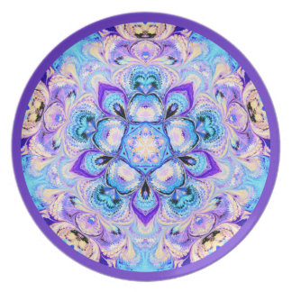 Kaleidoscope Plate Blue and Purple
