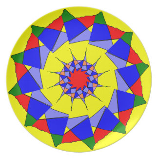 Kaleidoscope Plate primary colors
