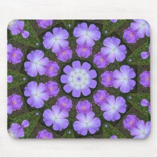 Kaleidoscope Purple Hibiscus Mousepad
