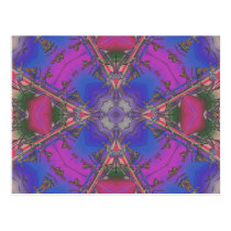 Kaleidoscope Purple Passion Postcard