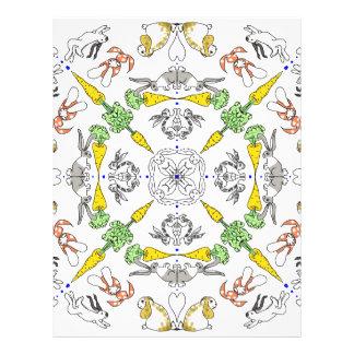 Kaleidoscope rabbits letterhead