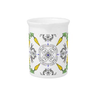 Kaleidoscope rabbits pitcher