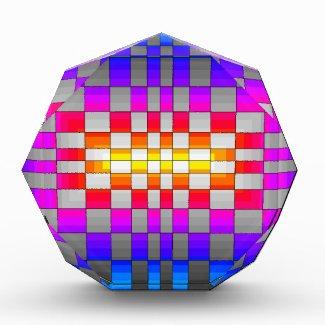 Kaleidoscope Rainbow Spectrum Colors Chessboard Award