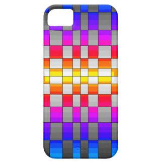 Kaleidoscope Rainbow Spectrum Colors Chessboard iPhone 5 Cases