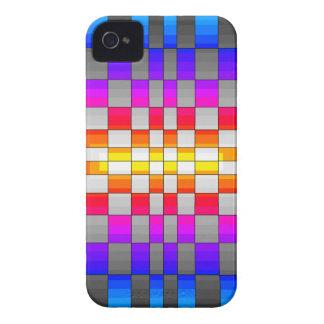 Kaleidoscope Rainbow Spectrum Colors Chessboard Case-Mate iPhone 4 Cases