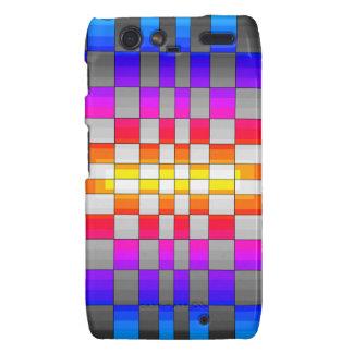 Kaleidoscope Rainbow Spectrum Colors Chessboard Droid RAZR Covers