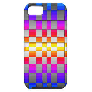 Kaleidoscope Rainbow Spectrum Colors Chessboard iPhone 5 Case