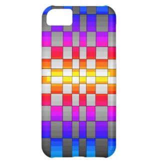 Kaleidoscope Rainbow Spectrum Colors Chessboard iPhone 5C Cases