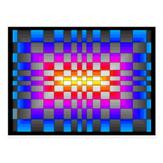 Kaleidoscope Rainbow Spectrum Colors Chessboard Postcard