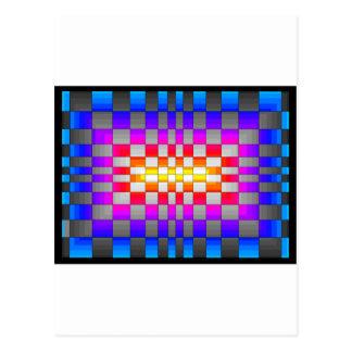 Kaleidoscope Rainbow Spectrum Colors Chessboard Postcard