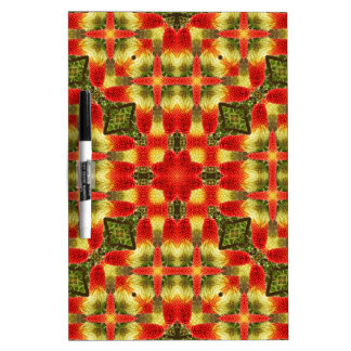 Kaleidoscope Red Hot Pokers Dry Erase Board