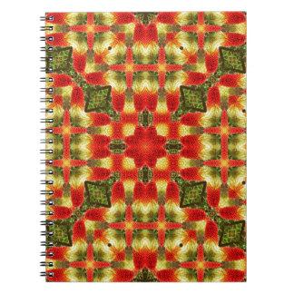 Kaleidoscope Red Hot Pokers Notebooks