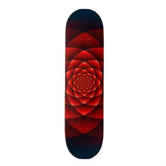 Kaleidoscope ROSE red + your idea Skateboard