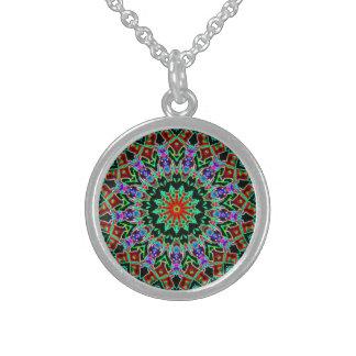 Kaleidoscope Round Pendant Necklace