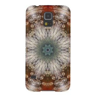 Kaleidoscope Rustic Nordic christmas snowflakes Galaxy S5 Case