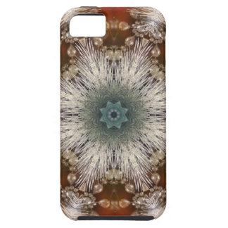 Kaleidoscope Rustic Nordic christmas snowflakes iPhone SE/5/5s Case