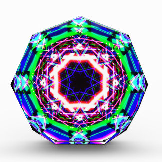 Kaleidoscope Shatters Prism Rainbow Acrylic Award