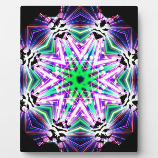 Kaleidoscope Shatters Prism Rainbow Club Plaque