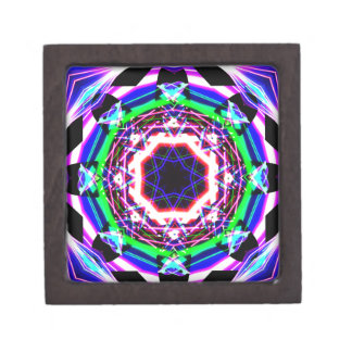 Kaleidoscope Shatters Prism Rainbow Keepsake Box