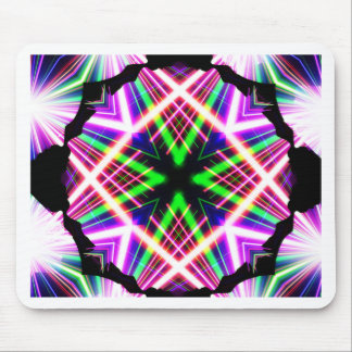 Kaleidoscope Shatters Prism Rainbow Mouse Pad