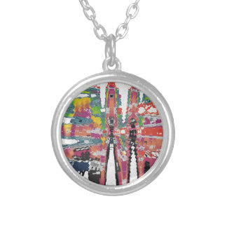 Kaleidoscope Silver Plated Necklace