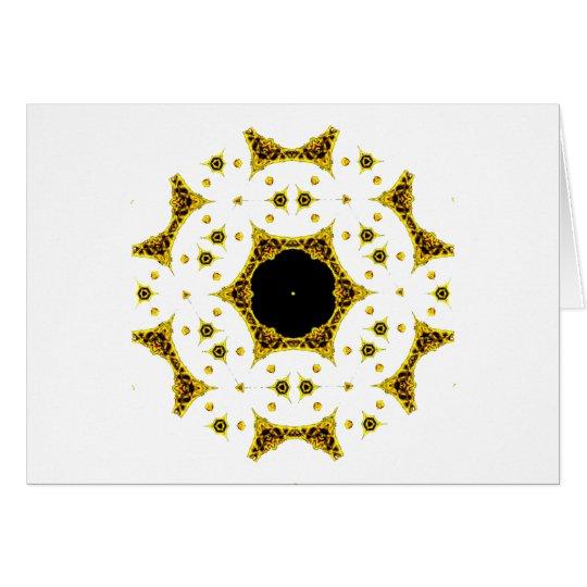 Kaleidoscope Skull Mandalas Gold Lace Card